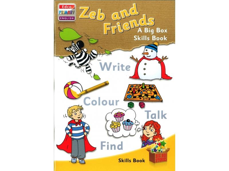 Zeb & Friends Skills Book - A Big Box Skills Book - Big Box Adventures - Senior Infants