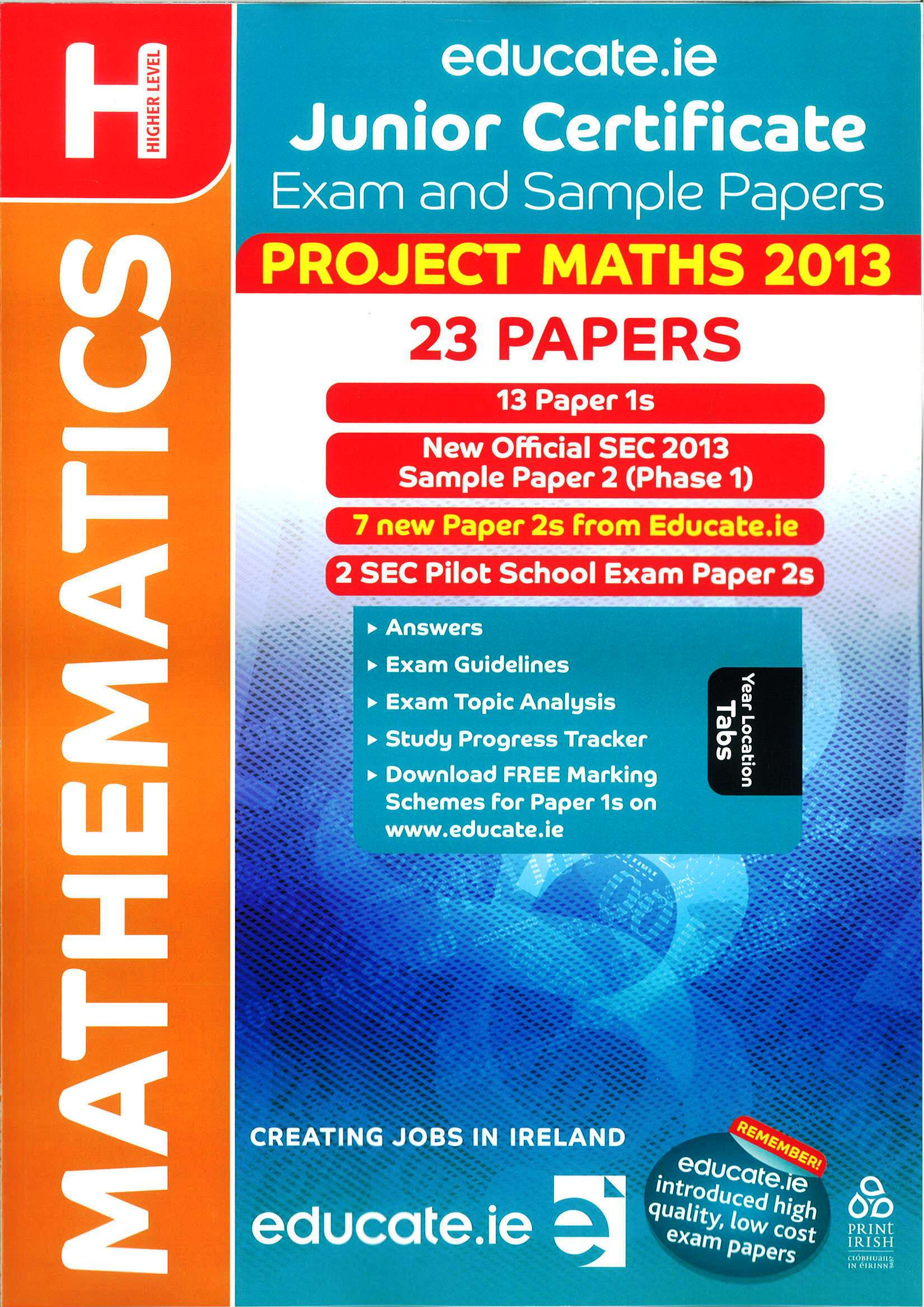 Junior cert maths higher level includes 2013 official exam paper yadclub Choice Image