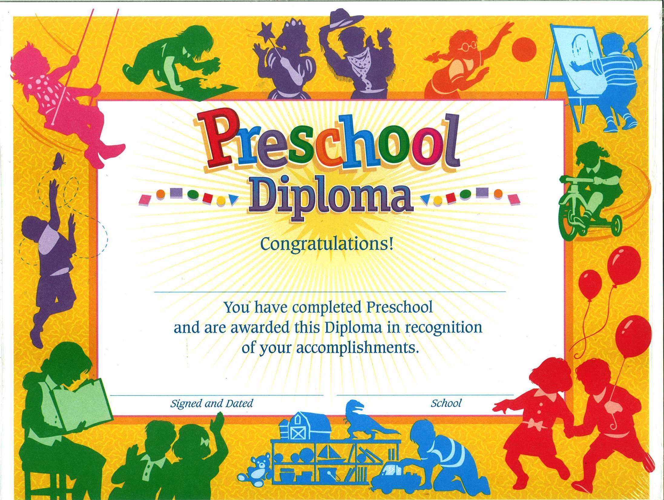 Preschool Certificate Diploma 30\'s
